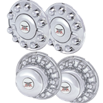 4 piece axle cover set - 2 front, 2 rear, chrome look